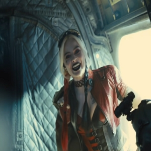 Harley Quinn boards the plane The Suicide Squad 2021 James gunn