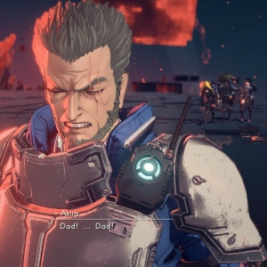 Max sacrifices himself for his kids Astral Chain Nintendo Switch