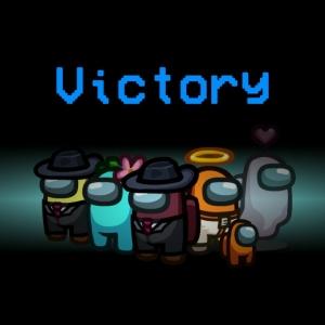 Victory screen Among Us Nintendo Switch