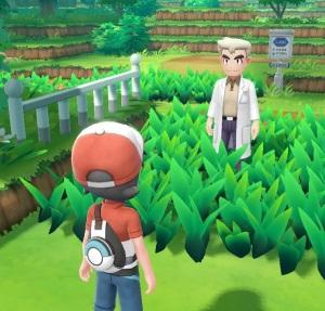 Pokemon: Let's Go Eevee/Pikachu professor oak and red Nintendo Switch
