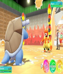 Blaine using magmar Pokemon Let's Go Pikachu/Eevee Nintendo Switch