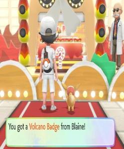 Volcano badge Pokemon Let's Go Pikachu/Eevee Nintendo Switch