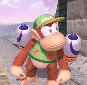 Diddy Kong with Rocket Belt Jetpack Super Smash Bros ultimate Nintendo Switch Pilotwings