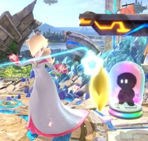 Rosalina and Luma using item catch super Smash Bros ultimate Nintendo Switch