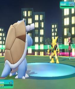 Sabrina using alakazam Pokemon Let's Go Pikachu/Eevee Nintendo Switch