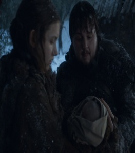 Samwell Tarly and gilly game of Thrones HBO