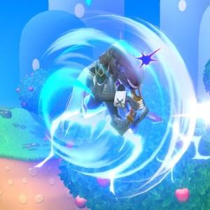 Lucina using screw Attack super Smash Bros ultimate Nintendo Switch Metroid