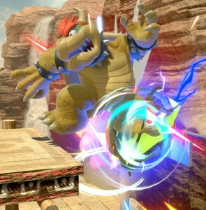 Samus using screw Attack on Bowser   super Smash Bros ultimate Nintendo Switch Metroid