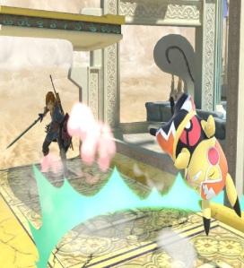 Link vs Pikachu Libre Skyworld stage super Smash Bros ultimate Nintendo Switch kid Icarus