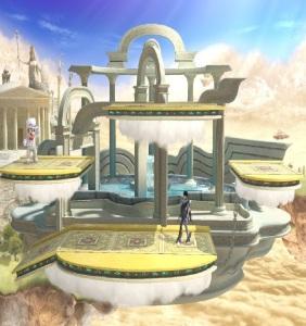 Skyworld stage super Smash Bros ultimate Nintendo Switch kid Icarus