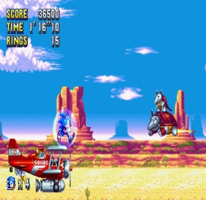 Wild west level Sonic Mania PS4 Xbox One Nintendo Switch Sega