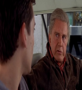 Uncle Ben dropping Peter Parker off at the library Spider-Man 1