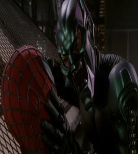 Green Goblin captures Spider-Man William Dafoe