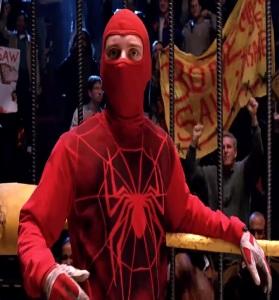 Peter Parker wrestling bonesaw Spider-Man 1 Tobey Maguire