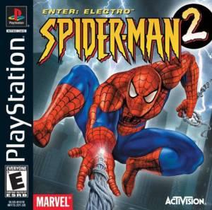 Spider-Man 2: Enter Electro PS1 boxart