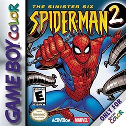 Spider-Man 2: The Sinister Six game boy color boxart