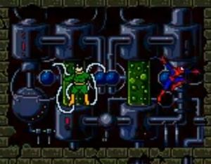 Doctor Octopus boss fight Spider-Man 2: The Sinister Six game boy color GBC