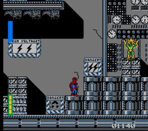 Electro boss battle Spider-Man: Return of the Sinister Six NES