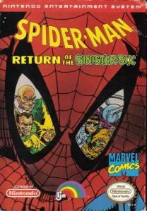 Spider-Man: Return of the Sinister Six NES Boxart