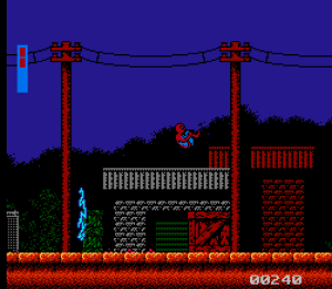 Spider-Man: Return of the Sinister Six NES first level