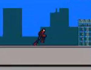 Spider-man running rooftop Spider-man game boy color GBC