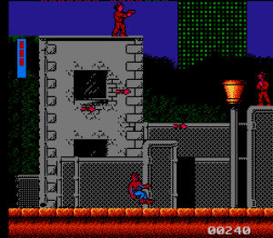 First level Spider-Man: Return of the Sinister Six NES