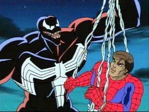 Venom captures Peter Parker Spider-Man: The Animated Series