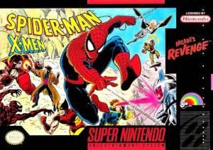 Spider-Man and the X-Men in Arcade's Revenge SNES boxart