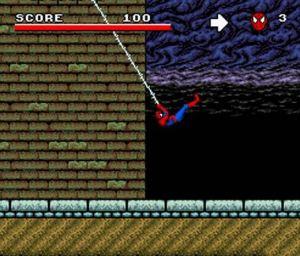 Spider-man level Spider-Man and the X-Men in Arcade's Revenge SNES