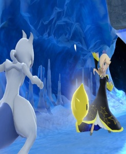 Mewtwo vs rosalina and luma Summit Stage super Smash Bros ultimate Nintendo Switch ice climber