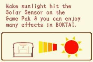 Sunlight sensor Boktai: The Sun Is In Your Hand Nintendo GBA Konami