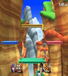 Lucina vs Richter 3D Land stage super Smash Bros ultimate Nintendo Switch