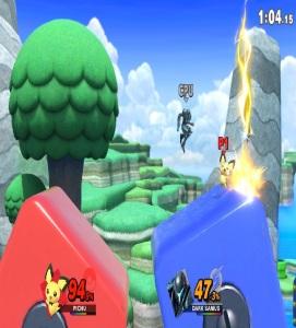 Dark samus vs pichu 3D Land stage super Smash Bros ultimate Nintendo Switch