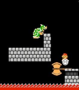 Bowser and axe smb1 Super Mario Maker 2 Nintendo Switch