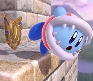 Kirby using Back Shield super Smash Bros ultimate Nintendo Switch