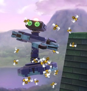 Bees attacking ROB Beehive super Smash Bros ultimate Nintendo Switch animal crossing