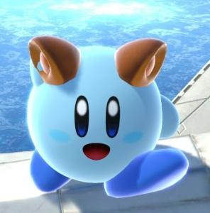 Kirby using Super Leaf super Smash Bros ultimate Nintendo Switch