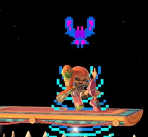 Inkling caught by Boss Galaga super Smash Bros ultimate Nintendo Switch