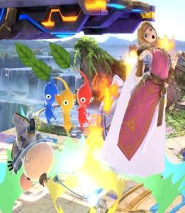 Captain Olimar vs princess Zelda super Smash Bros ultimate Nintendo Switch Pikmin