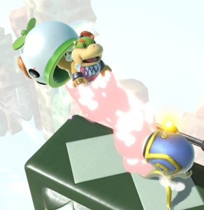 Bowser Jr hit by Killer Eye super Smash Bros ultimate Nintendo Switch kid Icarus