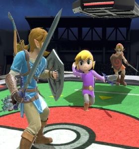 Toon Link vs link and young link super Smash Bros ultimate Nintendo Switch