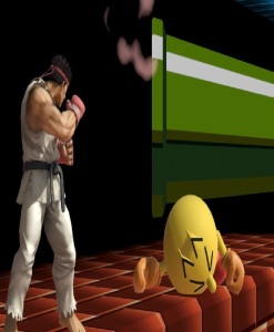 Ryu vs Pac-Man super Smash Bros ultimate Nintendo Switch