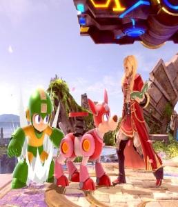 Mega Man and dog super Smash Bros ultimate Nintendo Switch Capcom