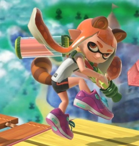 Inkling raccoon ears and tail Super Leaf super Smash Bros ultimate Nintendo Switch
