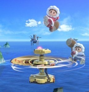 R.O.B. Using spinning arms against ice climbers Super Smash Bros ultimate Nintendo Switch