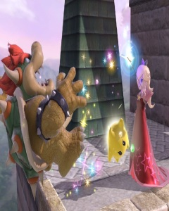 Rosalina and Luma vs Bowser super Smash Bros ultimate Nintendo Switch
