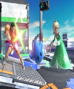 Rosalina and Luma vs little Mac super Smash Bros ultimate Nintendo Switch