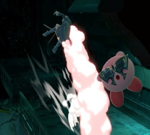 Kirby and Lucina Shadow Moses Island Stage super Smash Bros ultimate Nintendo Switch metal gear solid Konami