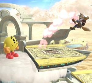 Pac-Man vs fox Skyworld stage super Smash Bros ultimate Nintendo Switch kid Icarus