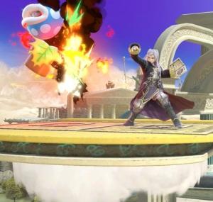 Robin burns piranha plant Skyworld stage super Smash Bros ultimate Nintendo Switch kid Icarus